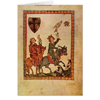 Codex Manesse By Master Of Manesse Card