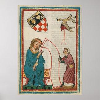 Codex one-eats - count Otto von Botenlauben Poster