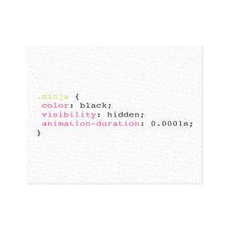 Coding Ninja Canvas Print
