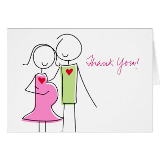 Coed Baby Shower Thank You Cards, Expecting Couple Card