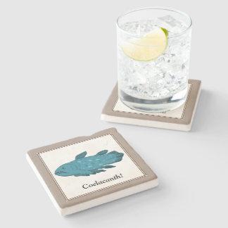 Coelacanth Stone Beverage Coaster
