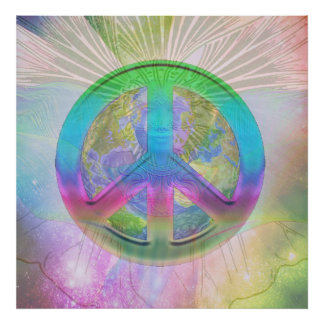 Coexist 2 - Angel, Earth and Peace Poster