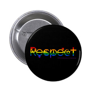 Coexist with Respect Gay Pride 6 Cm Round Badge