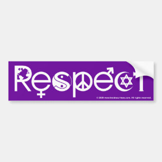Coexist with Respect - Peace Kindness & Tolerance Bumper Sticker