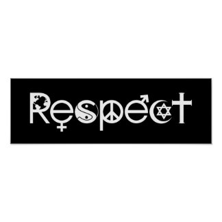 Coexist with Respect - Peace Kindness & Tolerance Poster