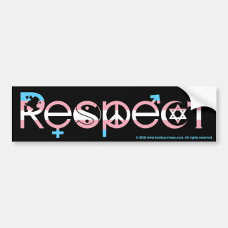 Coexist with Respect Transgender Pride Bumper Sticker