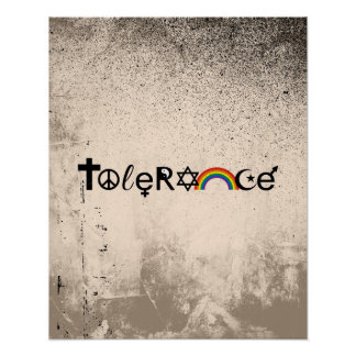 COEXIST WITH TOLERANCE -.png Print