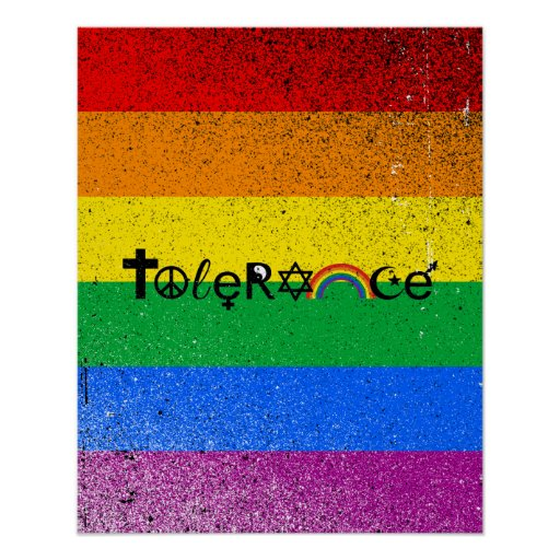 COEXIST WITH TOLERANCE -.png Poster