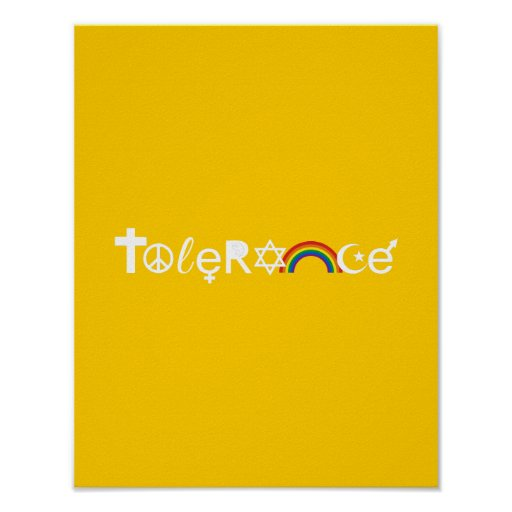 COEXIST WITH TOLERANCE POSTERS