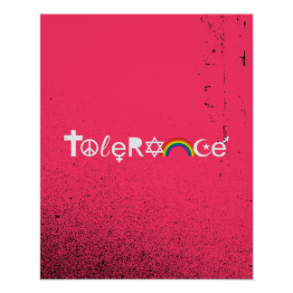 COEXIST WITH TOLERANCE POSTER