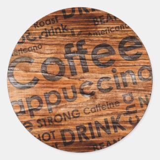 Coffe2  Sticker, Glossy, 3 inch (sheet of 6) Classic Round Sticker