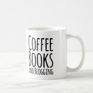 Coffe, books, and blogging coffee mug