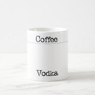 coffe vodka basic white mug
