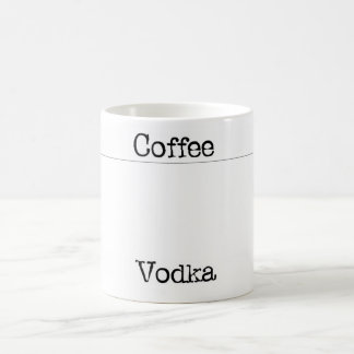 coffe vodka classic white coffee mug