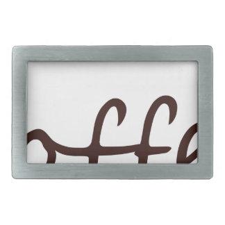coffee12 rectangular belt buckles