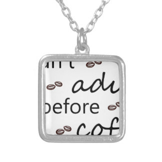 coffee20 silver plated necklace