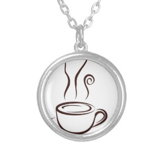 coffee8 silver plated necklace