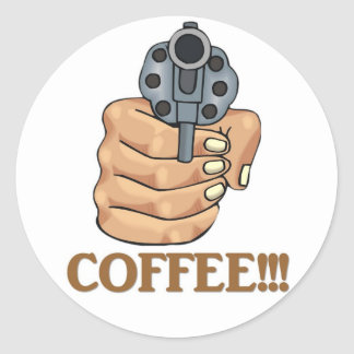 coffee-03 classic round sticker