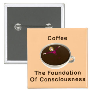 Coffee 15 Cm Square Badge