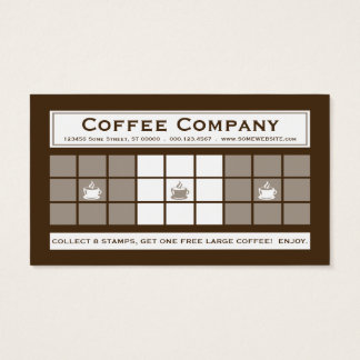 COFFEE 3dots Loyalty Program Business Card