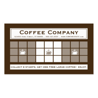 COFFEE 3dots Loyalty Program Pack Of Standard Business Cards