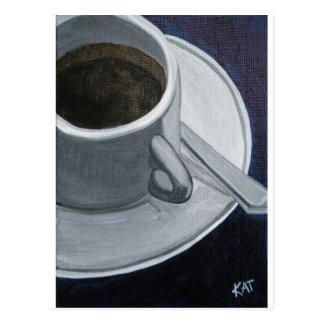 Coffee 5x7 Acrylic on Canvas board, @Kathleen Carr Postcard
