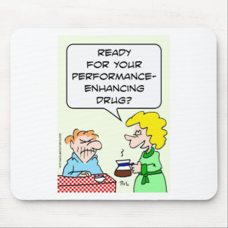 Coffee, a performance-enhancing drug mouse pad
