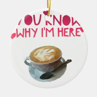Coffee AA Anonymous Drunk Fellowship Ceramic Ornament
