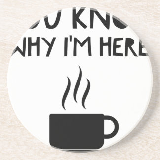 Coffee AA Anonymous Drunk Fellowship Coaster