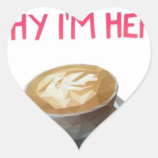 Coffee AA Anonymous Drunk Fellowship Heart Sticker