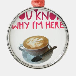 Coffee AA Anonymous Drunk Fellowship Metal Ornament