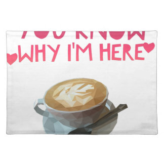 Coffee AA Anonymous Drunk Fellowship Placemat