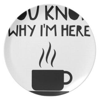 Coffee AA Anonymous Drunk Fellowship Plate