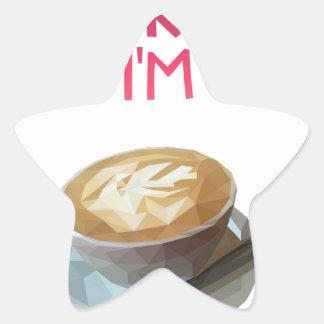 Coffee AA Anonymous Drunk Fellowship Star Sticker