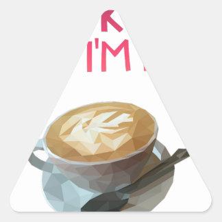 Coffee AA Anonymous Drunk Fellowship Triangle Sticker