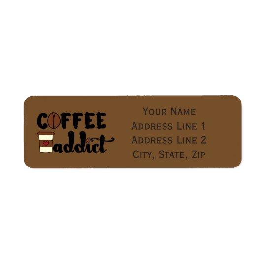 Coffee Addict II - Personalise Return Address Label