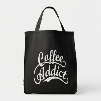 Coffee Addict in White Tote Bags