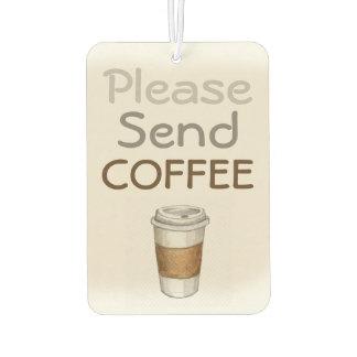 Coffee Addict's Car Air Freshener