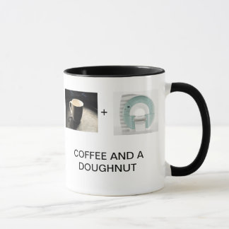 COFFEE AND A DOUGHNUT MUG