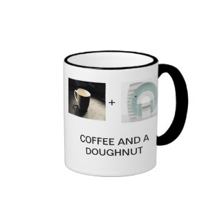COFFEE AND A DOUGHNUT COFFEE MUG