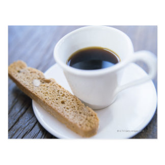 Coffee and Biscotti Postcard