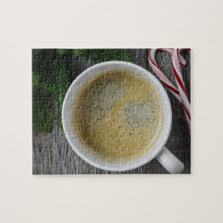 Coffee and Candy Cane for the Holidays Jigsaw Puzzle