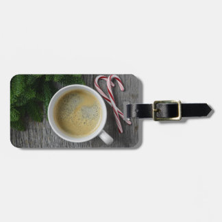 Coffee and Candy Cane for the Holidays Luggage Tag