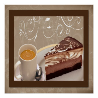 Coffee and Cheesecake Poster