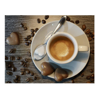 coffee and chocolate postcard