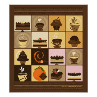 Coffee and Chocolate Print