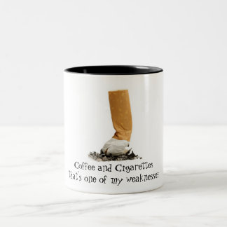 Coffee and Cigarettes Two-Tone Coffee Mug
