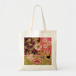Coffee and Cookies Floral Tote Tote Bag
