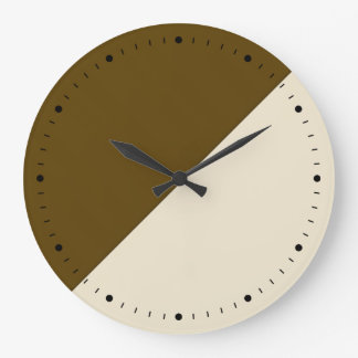 Coffee And Cream Block Art Wallclock