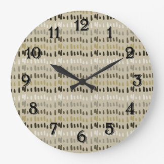 Coffee and Cream Stripes Abstract Wallclocks